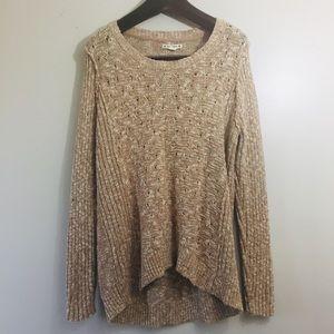 Ruff Hewn tunic knit sweater. Size Large